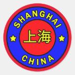 Shanghai China Classic Round Sticker