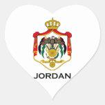 JORDAN - emblem/flag/coat of arms/symbol Heart Sticker