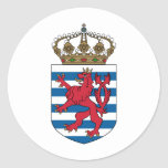 luxembourg emblem classic round sticker