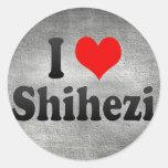 I Love Shihezi, China. Wo Ai Shihezi, China Classic Round Sticker