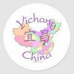 Yichang China Classic Round Sticker