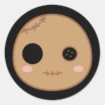Itami the Voodoo Doll Head Classic Round Sticker