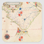 Map of South America and the Magellan Straits Square Sticker
