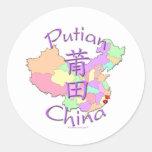 Putian China Classic Round Sticker