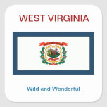 WEST VIRGINIA FLAG AND MOTTO sticker