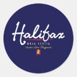Halifax Script Classic Round Sticker