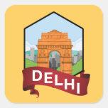 Delhi India Gate Square Sticker