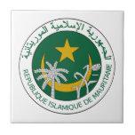 Mauritania National Seal Ceramic Tile