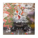 Daikoku it causes, the cat float island shrine tile