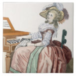 The Virtuosa in a Dress 'a l'Anglaise' with a Marl Ceramic Tile