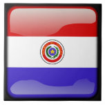 Flag of Paraguay Ceramic Tile