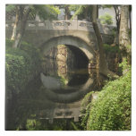 China, Nantong, an arched bridge forms a perfect Ceramic Tile