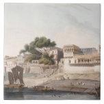 Part of the City of Patna, on the River Ganges, pl Ceramic Tile