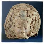 Head of Ardhanarisvara, Newal, Unnao (terracotta) Tile