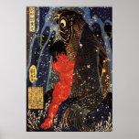 坂田金時と巨鯉, 国芳, Sakata Kintoki & Huge Carp, Kuniyoshi Poster
