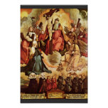 Holy Trinity With Angels, Saints, And Its Founding Poster