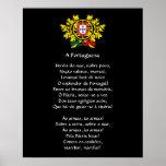 Portuguese* National Anthem Poster
