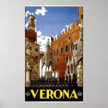 Vintage Verona Italy Architecture Travel Poster