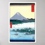Miho Matsubara View of Fuji Hiroshige Fine Art Poster