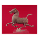 Galloping horse with one Hoof Resting on a Poster