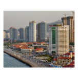Waterfront with Yantai city skyline, Shandong Poster