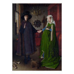 The Arnolfini Marriage (by Jan van Eyck) Poster