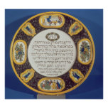 Fayeme Passover Dish,by Isaac Cohen of Pesaro Poster
