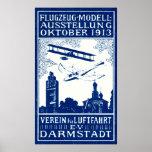 1913 Darmstadt Air Show Poster