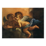 Angel detail, Patron Saints of Modena by Guercino Poster