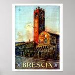 Vintage Italian Travel poster Brescia