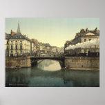 Vintage France, Nantes & Loire river, Brittany Poster