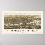 Potsdam, NY Panoramic Map - 1885 Poster