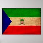 Equatorial Guinea Flag Poster
