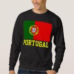 Portugal World Flag Text Sweatshirt
