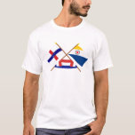 Netherlands Antilles and Bonaire Crossed Flags T-Shirt