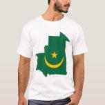 Mauritania Flag Map T-Shirt