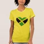 Jamaican Heart Flag T-Shirt