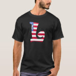 L (Liberia) Monogram Flag T-shirt
