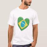 Brazil Heart Flag T-Shirt