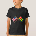 US and Togo Crossed Flags T-Shirt
