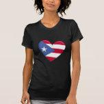 Puerto Rico Heart Flag T-Shirt