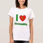 I Love Alessandria Italy T-Shirt
