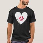 Oita Prefecture Flag Heart T-Shirt