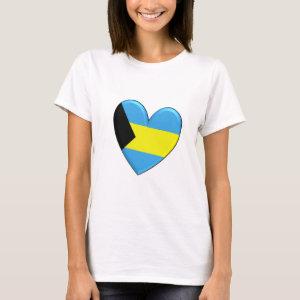 Bahamas Heart Flag T-Shirt