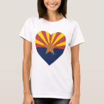 Arizona Flag Heart T-Shirt