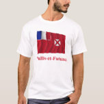 Wallis and Futuna Waving Flag with Name in French T-Shirt