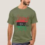 Libya Flag Ink Splatter T-Shirt