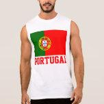 Portugal World Flag Text Sleeveless Shirt