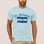 Wavy El Salvador National Flag T-Shirt