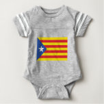 Catalonia  (The Blue Starred Flag) Baby Bodysuit